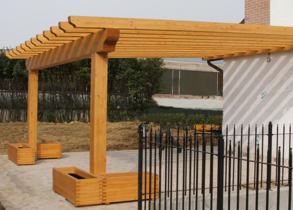 Pompeiane in legno tettoie pensiline carport - Tettoie in legno ...